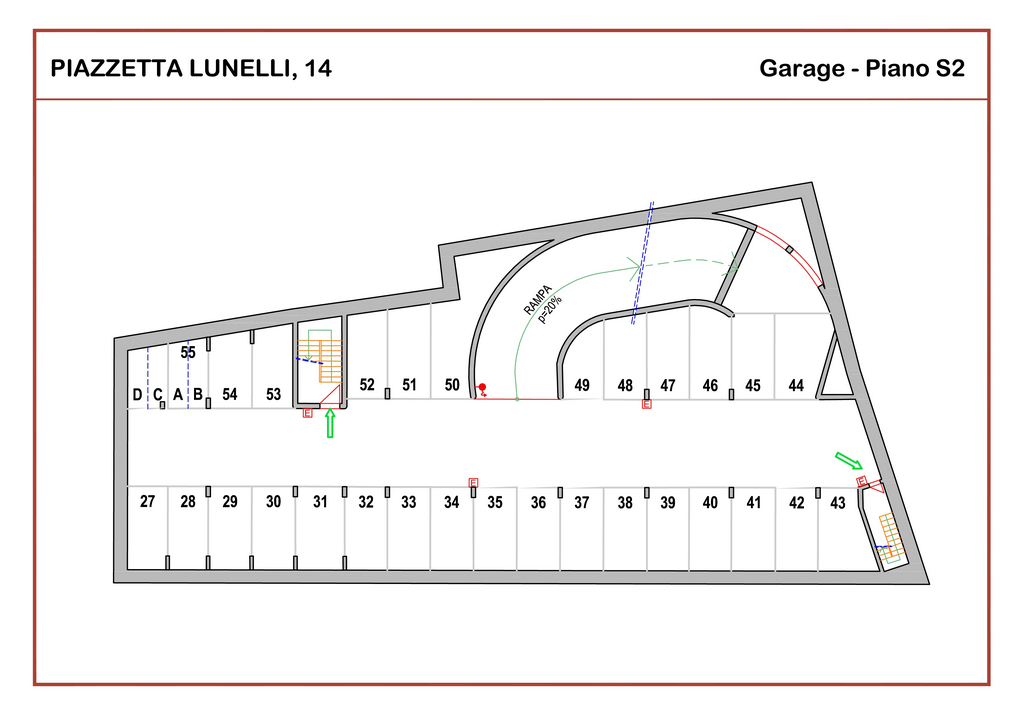 Affitto garage privato trento centro posto auto assegnato for Planimetrie del garage rv